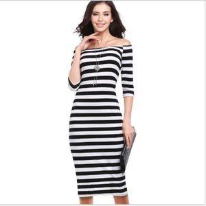 Dresses & Skirts - Striped Dresses Pencil Skirts Maxi Dress